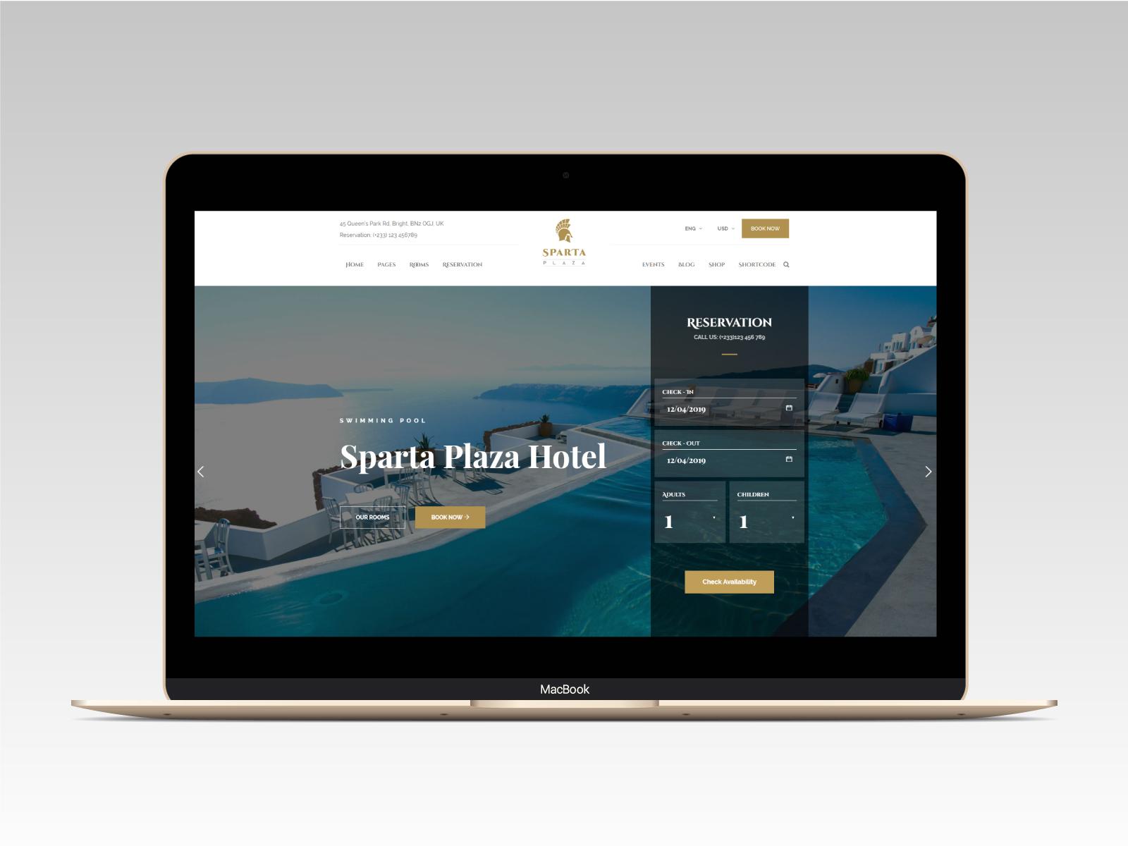 Sparta   Hotel & Resort HTML5 Template - 14