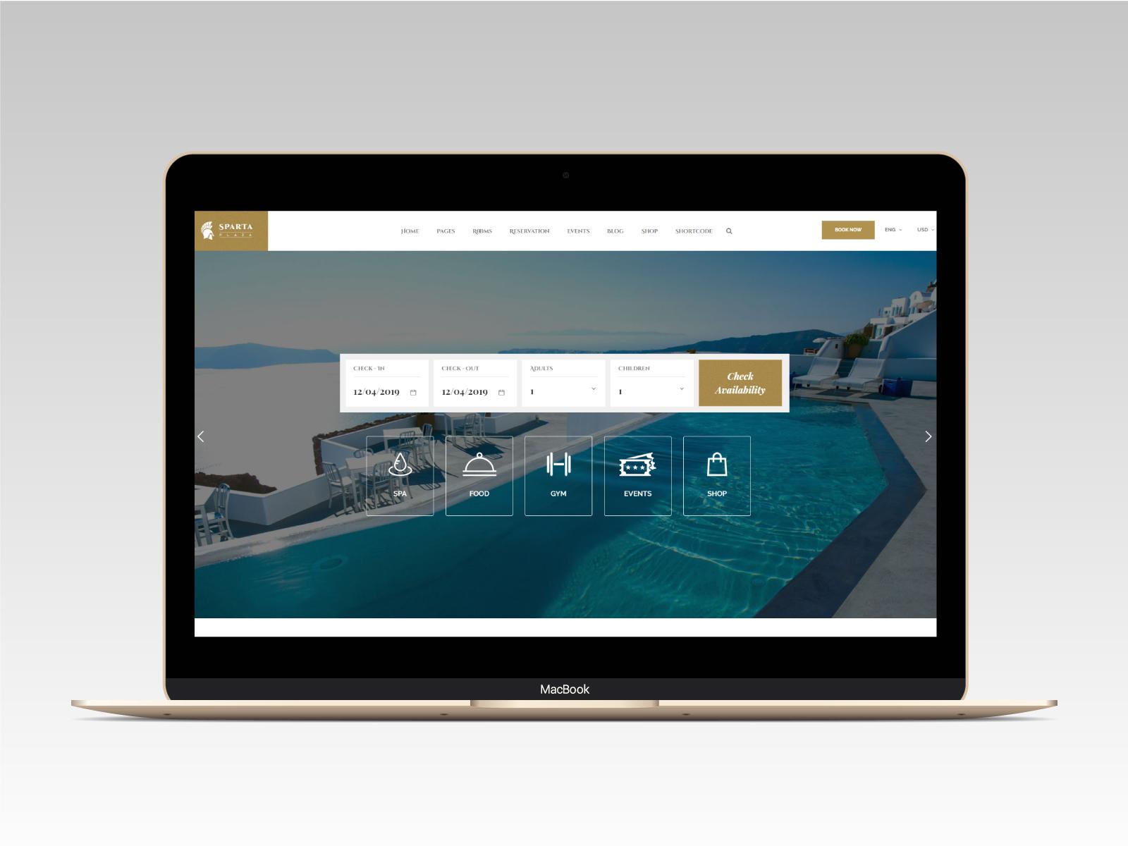 Sparta   Hotel & Resort HTML5 Template - 15