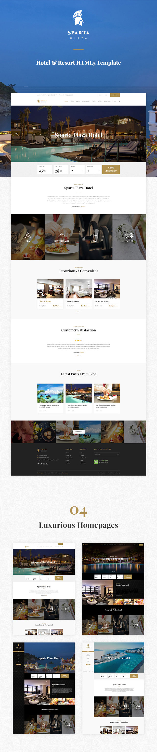 Sparta   Hotel & Resort HTML5 Template - 5