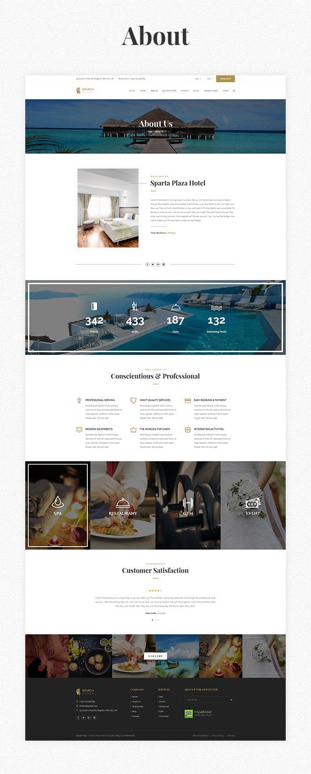 Sparta   Hotel & Resort HTML5 Template - 17