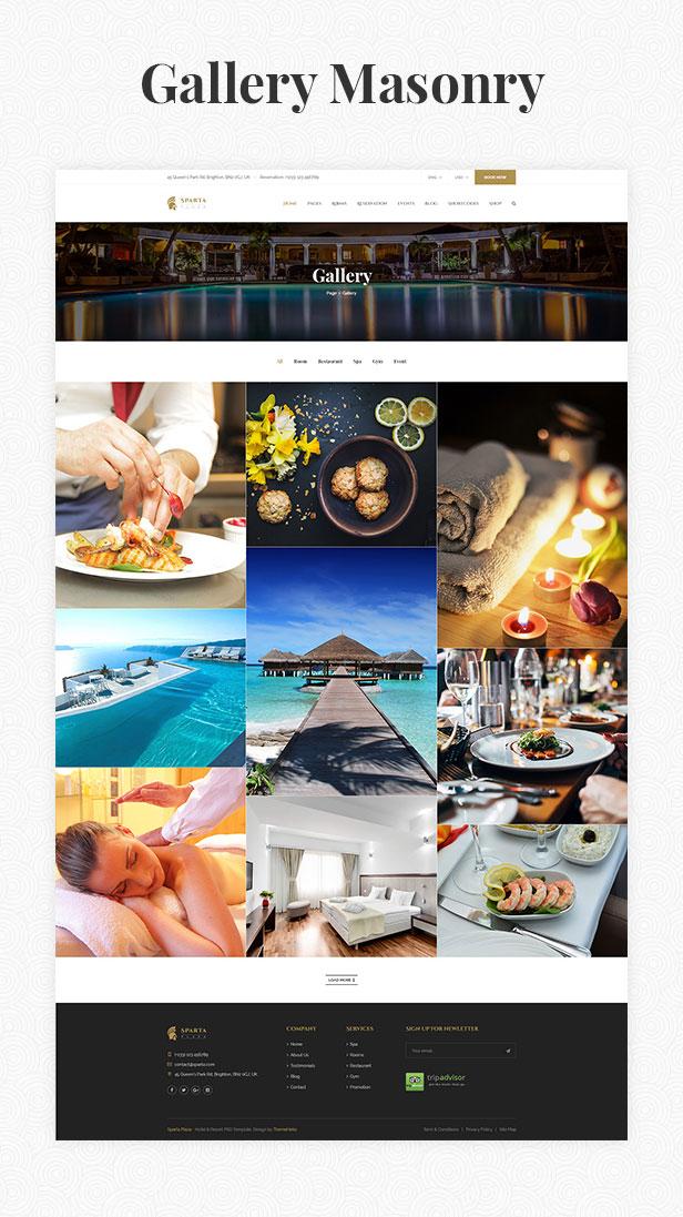 Sparta   Hotel & Resort HTML5 Template - 18