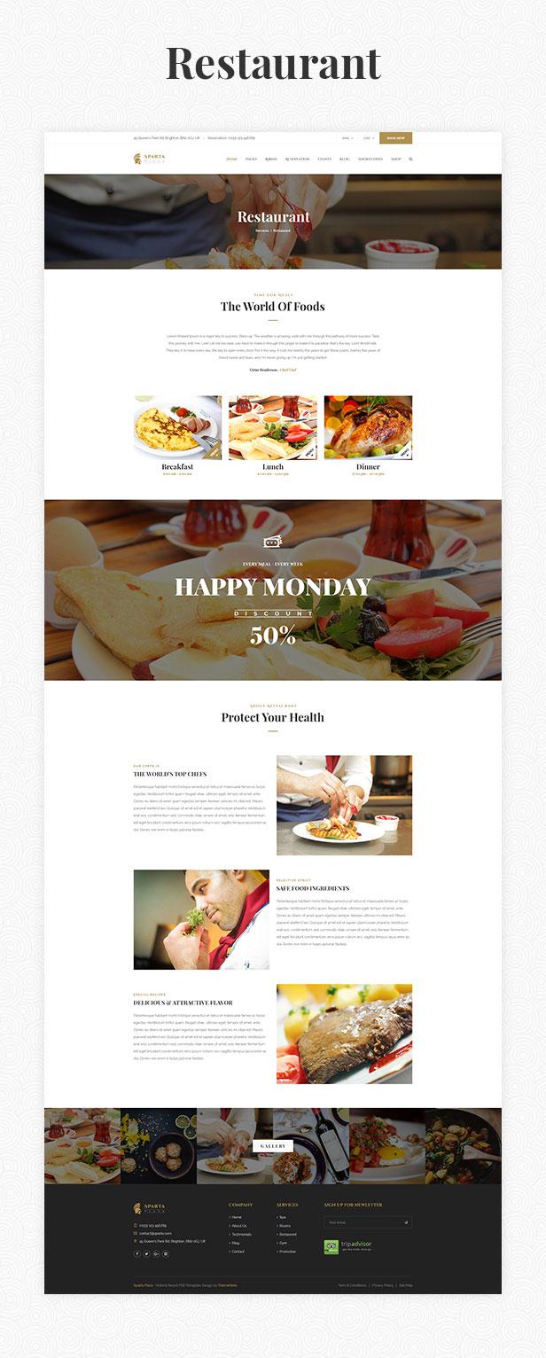 Sparta   Hotel & Resort HTML5 Template - 19
