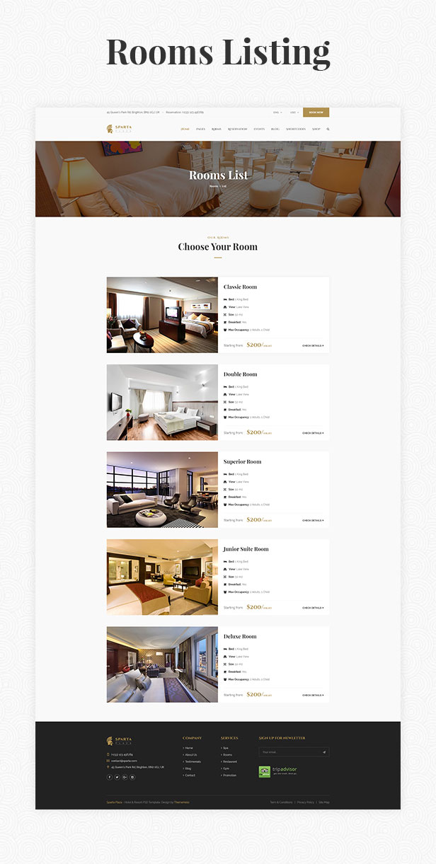 Sparta   Hotel & Resort HTML5 Template - 22