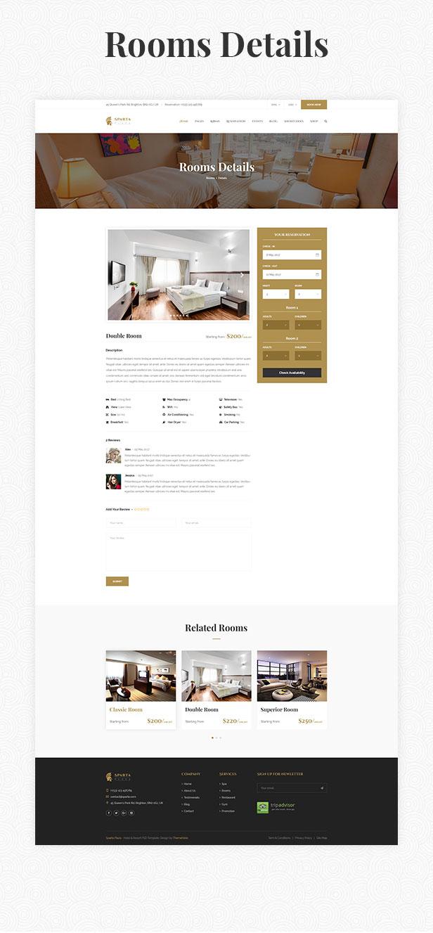 Sparta   Hotel & Resort HTML5 Template - 23