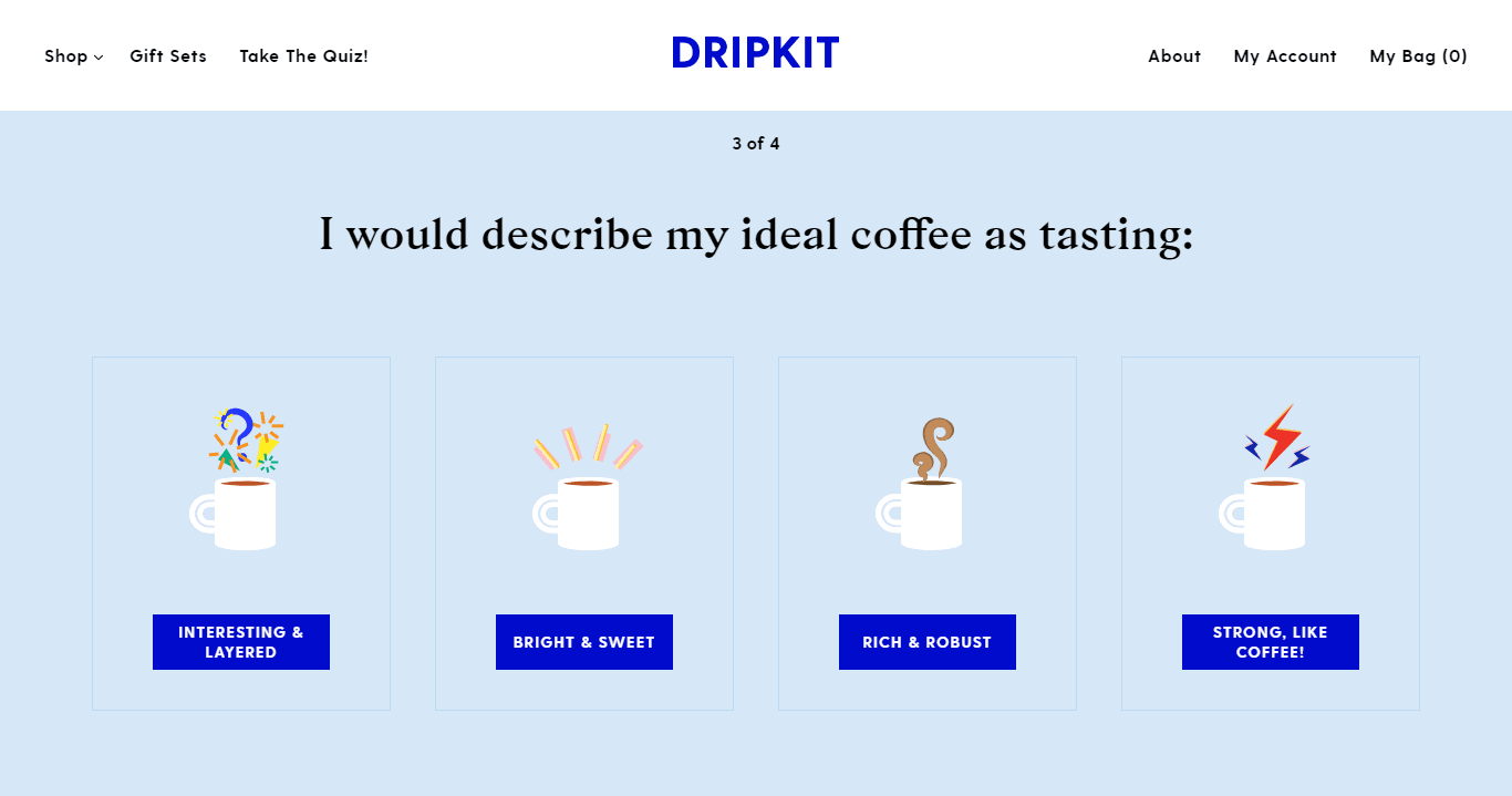 Dripkit quiz questions and illustrated answers.