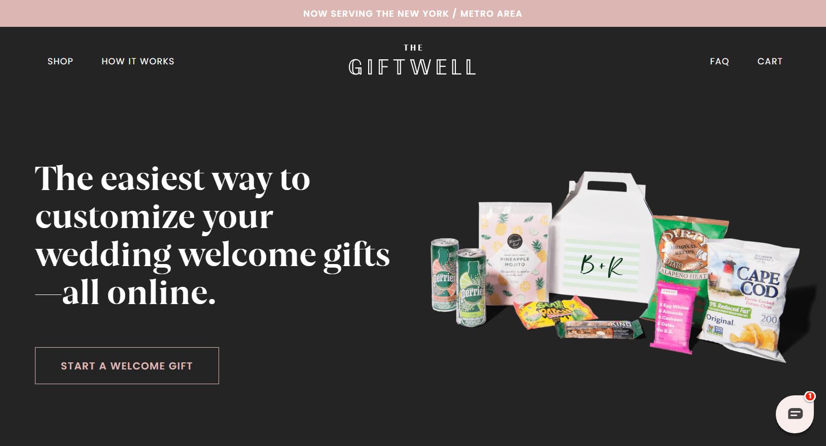 Giftwell Homepage.