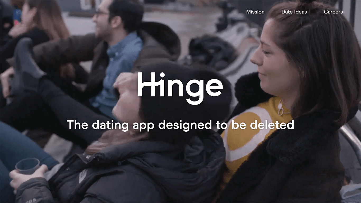Hinge.co homepage