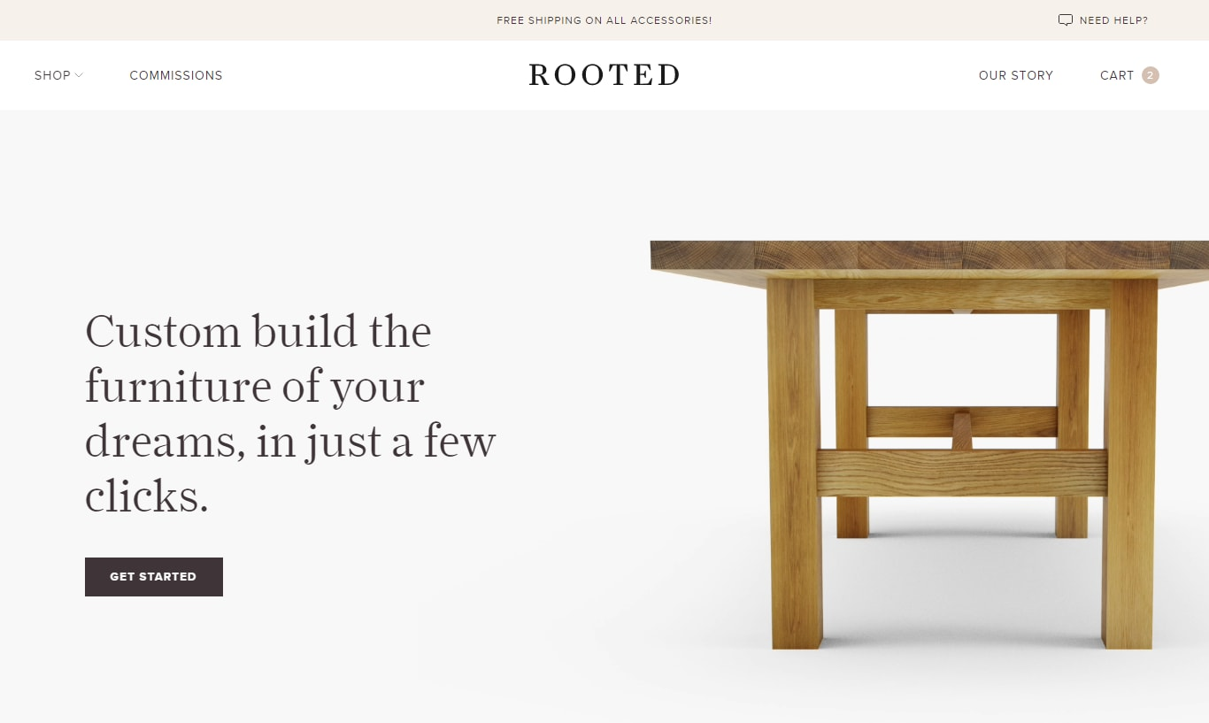 Homepage for Rooted.