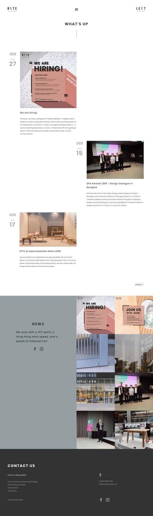 Blog for Studio Ryte