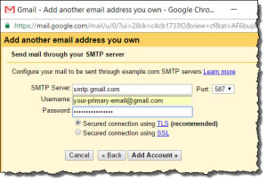 Gmail Send Mail SMTP Configuration and Setup