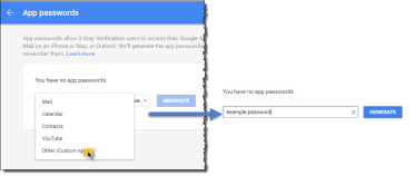 Generate a Google Apps Password