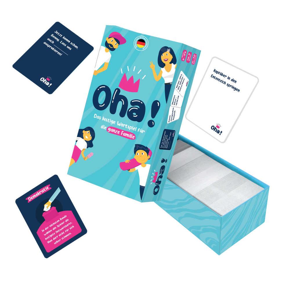Oha ist ein lustiges Kartenspiel, womit ihr viel spaß mit eurem Freuden und Familie haben werdet.