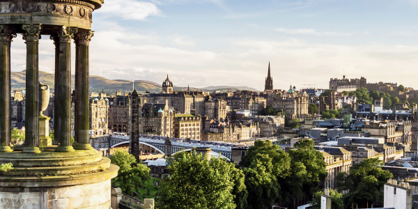 Edinburgh city landscape
