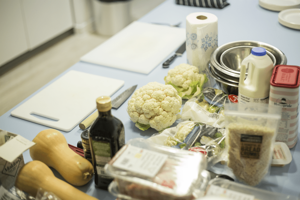 ingredients for student cooking