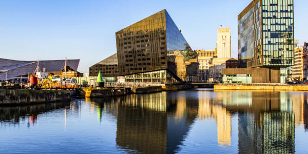 The Liverpool Waterfront From the Albert Dock