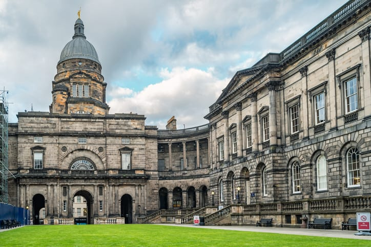 Old College of the University of Edinburgh in Edinburgh, Scotland, UK