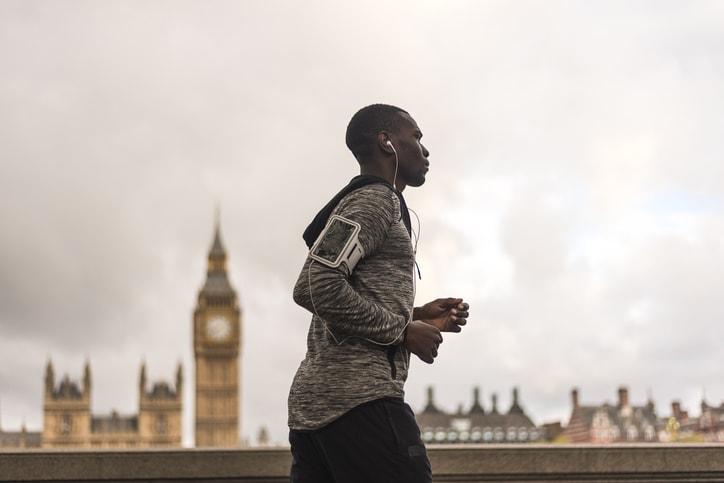 student on a run