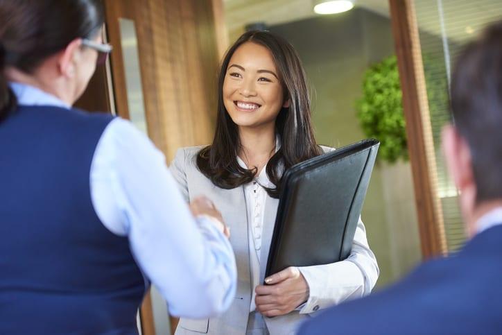 smiling job candidate