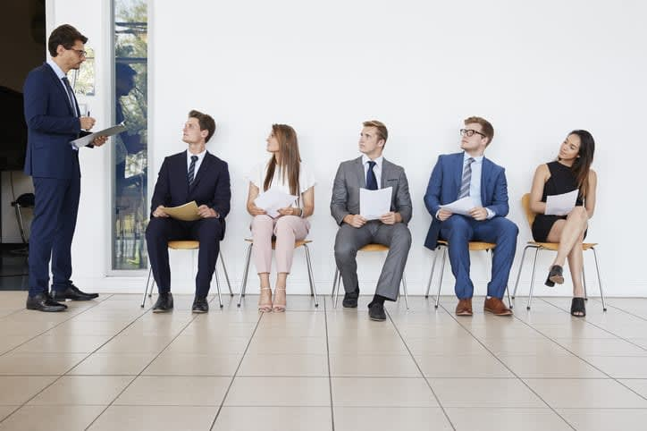 candidates for job interview