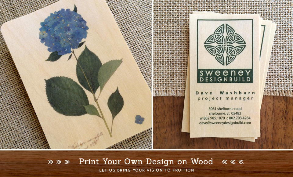 Let's print your artwork on wood.