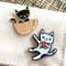 Cat Lover Pin Pals Gift Set