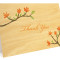 Blooming Branch Folded Thank You Card: Apricot