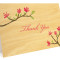 Blooming Branch Folded Thank You Card: Honeysuckle