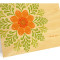 Deco Rosette Folded Thank You Card: Apricot