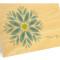 Gem Daisy Folded Thank You Card: Bluebell