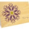 Gem Daisy Folded Thank You Card: Lavender