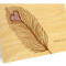 Heart Feather Folded Thank You Card: Periwinkle