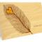 Heart Feather Folded Thank You Card: Sunny