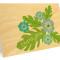Hibiscus Folded Thank You Card : Aqua
