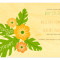 Hibiscus Save the Date: Apricot