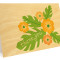 Hibiscus Folded Thank You Card : Apricot