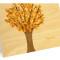 Leafy Tree Folded Thank You Card: Fall
