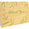 Wispy Bamboo Folded Thank You Card : Sage