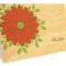 Zinnia Folded Thank You Card: Persimmon