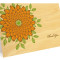 Zinnia Folded Thank You Card: Sunny