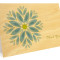 Gem Daisy Folded Thank You Card: Bluebell