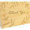 Wispy Bamboo Folded Thank You Card : Khaki