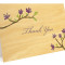 Blooming Branch Folded Thank You Card: Periwinkle