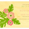 Hibiscus Save the Date: Blossom