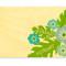 Hibiscus Place Card: Aqua