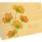 Cosmos Folded Thank You Card : Apricot