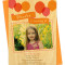 big balloons apricot party invitation: Front Detail