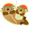 Santa Otters Ornament
