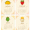 2020 Fun Food Desk Calendar: January - April