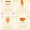 2020 Fun Food Desk Calendar: May - August