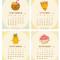 2020 Fun Food Desk Calendar: September - December